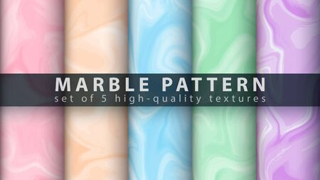 Marble texture pattern - set five items. Hand draw