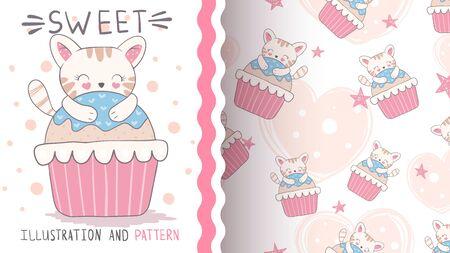 Cake sweet cake - seamless pat