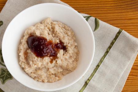 oatmeal bowl: bowl of oatmeal Stock Photo