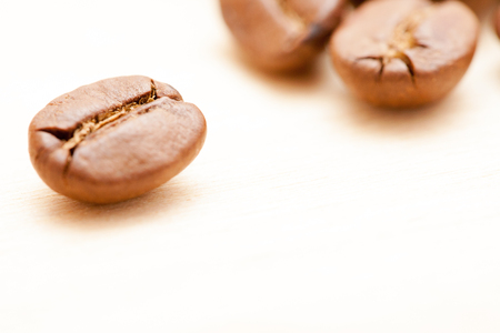 close up of the coffee beans