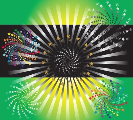 Vector Illustration Abstract Star Background