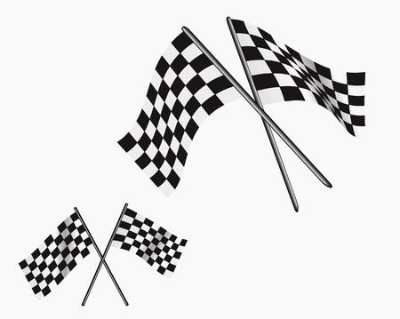 indianapolis: Illustration of finish line flags.