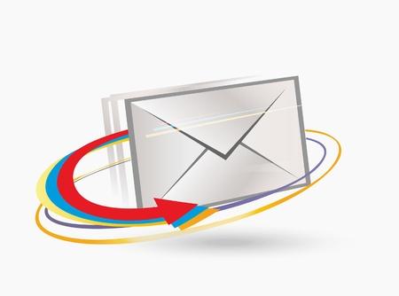 Postal envelope with arrows. Stock Vector - 10286127