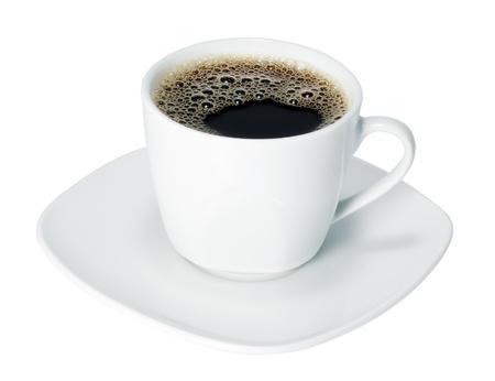 tazas de cafe: taza de café aislados en un fondo blanco Foto de archivo