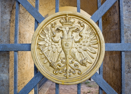 The coat of arms on a lattice of gate
