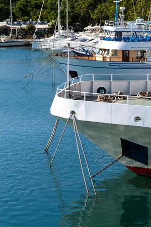 shipbuilder: Anchorage yachts on the island of Rhodes