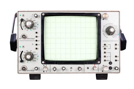 oscilloscope: ad alta frequenza a due canali dell'oscilloscopio isolato su sfondo bianco