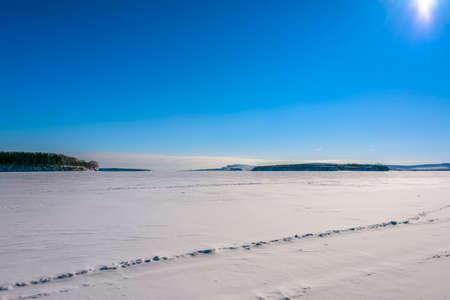 arctic waters: Winter seascape Stock Photo