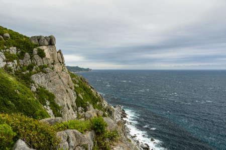 steep: Steep coast. Stock Photo