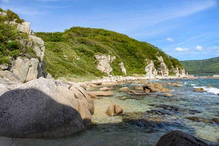 rocky: Rocky beach.