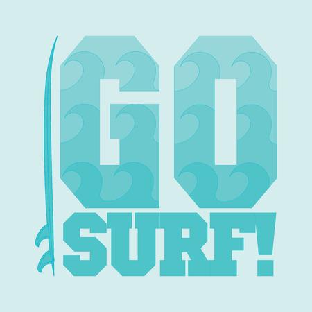 miami south beach: go surfing, Miami Beach, Florida, surfing t-shirts, T-shirt inscription, typography, graphic design, emblem