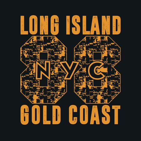 athletic wear: ollege, New York, typography, t-shirts, graphic design, printing, New York, original design, clothing design, graphic design, emblem Illustration