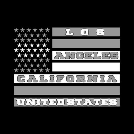 Los Ageles, en Californie, une maison d'impression avec un drapeau américain, chemise, mode, graphique. style original graphique, papier peint, textile, l'industrie, la conception de livres, site web, et autres imprimés Banque d'images - 53165033