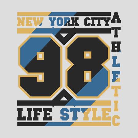 jersey city: New York typography, design graphic, t-shirt printing man NYC, original design clothing, clothing, graphic design, emblem