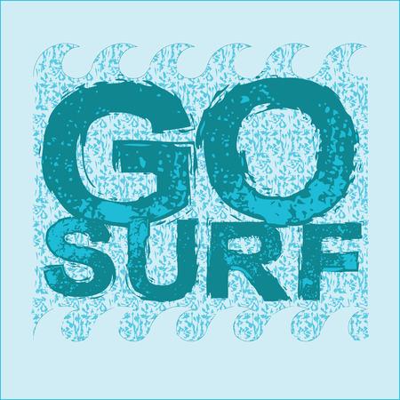 miami florida: go surfing, Miami Beach, Florida surfing t-shirts, T-shirt inscription, typography graphic design emblem