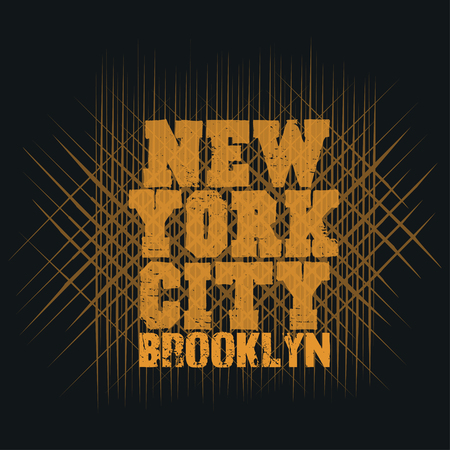 jersey: New York typography, t-shirt  brooklyn, design graphic,  printing man NYC, original design clothing, clothing, graphic design, emblem Illustration