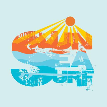 logotipo turismo: Navegar en Miami Beach, Florida surf camisetas, camiseta de la tipografía de la inscripción, el diseño gráfico, emblema