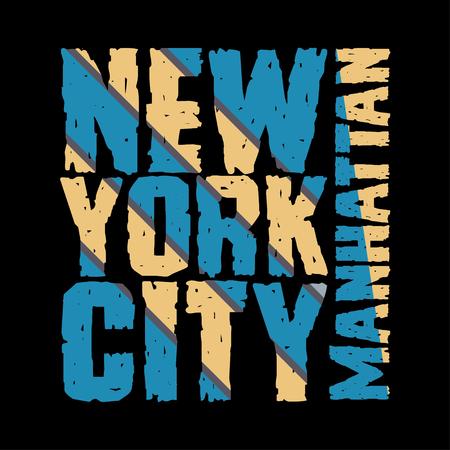 New York typography, t-shirt  manhattan, design graphic,  printing man NYC, original design clothing, clothing, graphic design, emblem 向量圖像