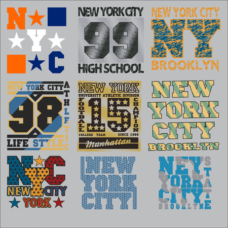 set  t-shirt,  New York typography, design graphic, printing man NYC, original design clothing, clothing, graphic design, emblem