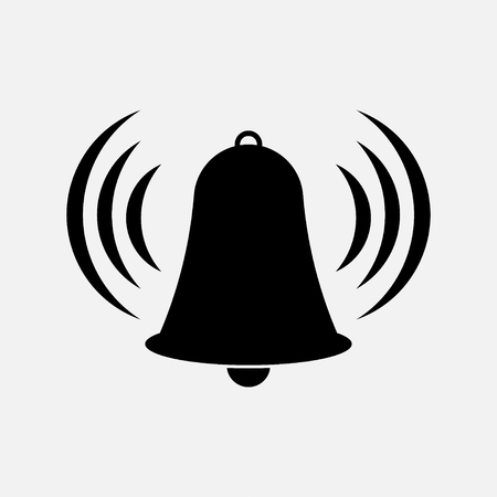 bell tower: icon bell, bell tower, warning, information fully editable vector image Illustration