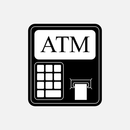 withdrawals: Icon ATM withdrawals from kartochki, financial capacity, fully editable vector image