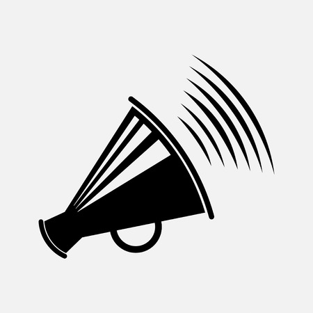 icon megaphone, icon message, report information, speakerphone, fully edit vector image