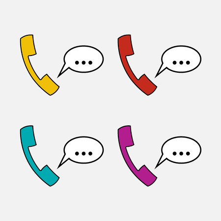 icons handset, communication, chat fully editable vector image