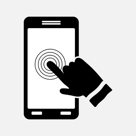 technologists: icon touch screen control technology sign for smartphone mtobylnaya technologists fully editable vector image