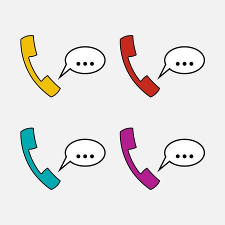 handset: icons handset, communication