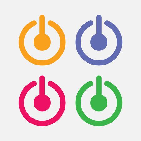 アイコンの電源、電源を含むようにコンピューティング システム  イラスト・ベクター素材