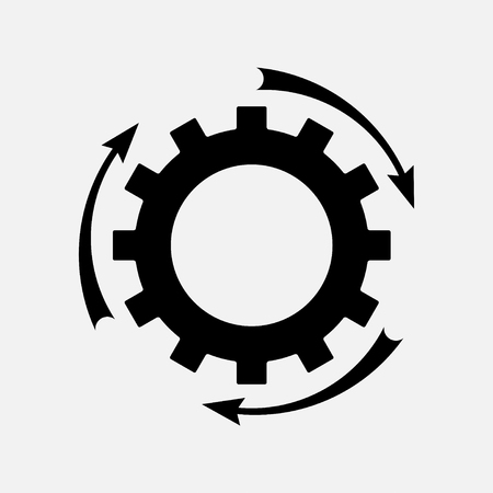 designator: icon setting parameters, setting the work gear with arrow