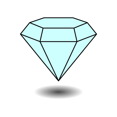 karat: icon diamond jewelery, jewelery, label, sticker, fully editable vector image Illustration