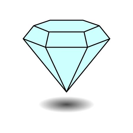 icon diamond jewelery, jewelery, label, sticker, fully editable vector image Illustration