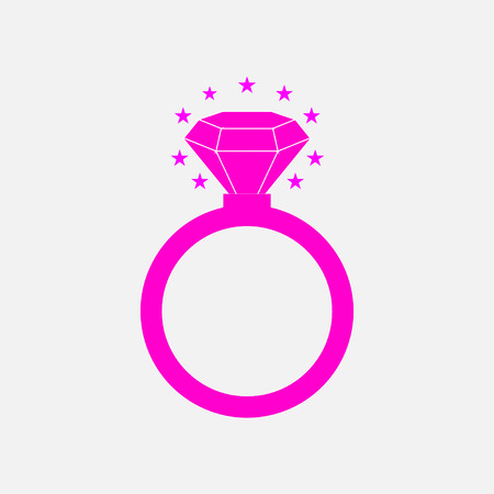fully editable: icon diamond ring, wedding, decoration, fully editable vector image