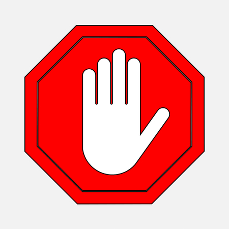 A red octagonal stop sign arm, STOP prohibits various activities