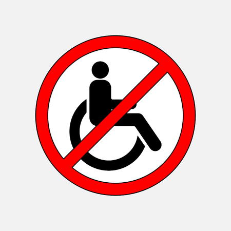 invalid: disabled sign in the red circle, in the red circle, fully editable vector image Illustration