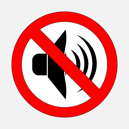 sign prohibiting noise, signals is prohibited, silent, fully editable vector image