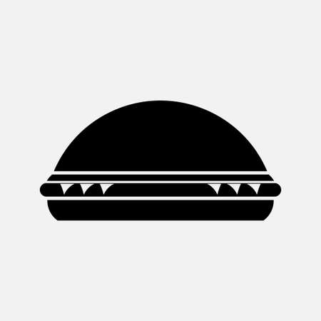icon burger, a dining room, a snack bar, a place to eat, fully editable vector image