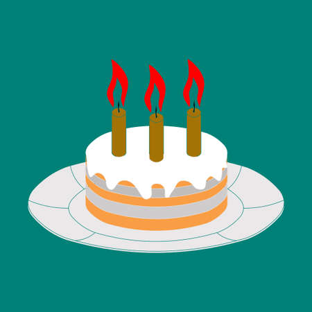 icon cake, icon celebration image, holiday, birthday Fully editable vector image