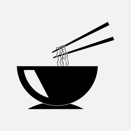 icon chinese food, noodle bowl, eating chinese food image for mobile phones, fully editable vector image