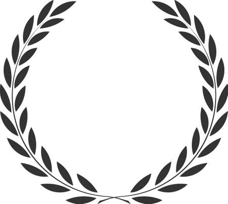 icon laurel wreath, spotrs design - vector illustration Black