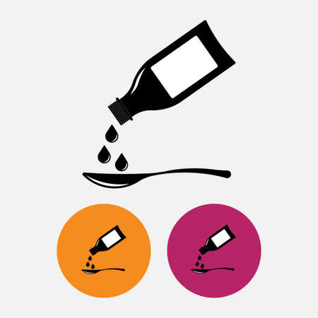 Icon bottling syrup, medication, for mobile devices, Web sites, fully editable vector image