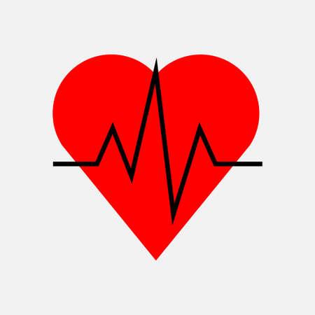 icon impulse of the heart, cardiology, health, fully editable vector image