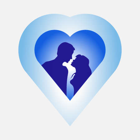 image of love, Mister and woman love story, passion, love, heart, harmony, message icons, fully editable vector image Illustration