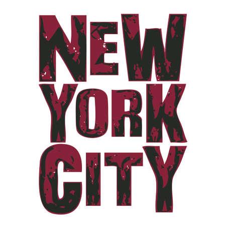 New York typography, t-shirt NY, design graphic, printing man NYC, original design clothing, clothing graphic design Stock Illustratie