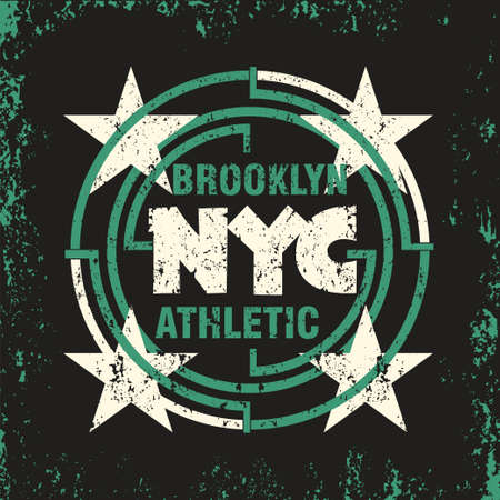 t-shirt New York Brooklyn, Sport wear, sport typography emblem, t-shirt stamp graphics, vintage tee print, athletic apparel design
