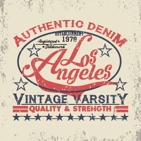 Los Angeles t-shirt, California graphic, sport emblem design, graphic Print label