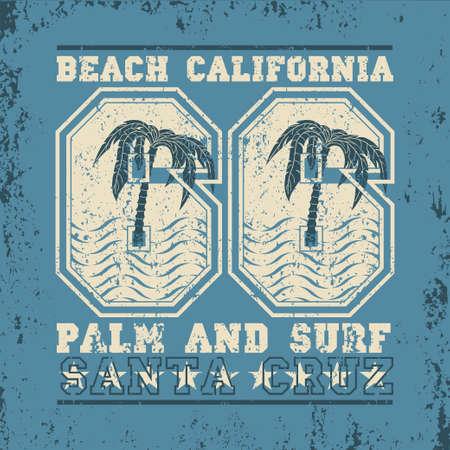 t-shirt surfing california, graphic print design, surfers print stamp, surf apparel