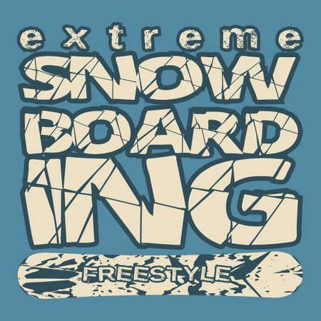 T-shirt snowboarding, extreme sports, athletics Typography, Fashion college, sport design the   graphic print image, design fashion Typography, original design clothing