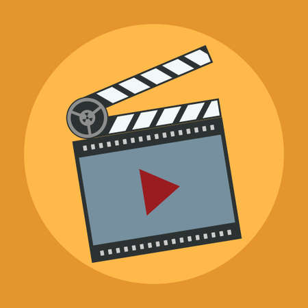 icon film, media player, flat design vector image